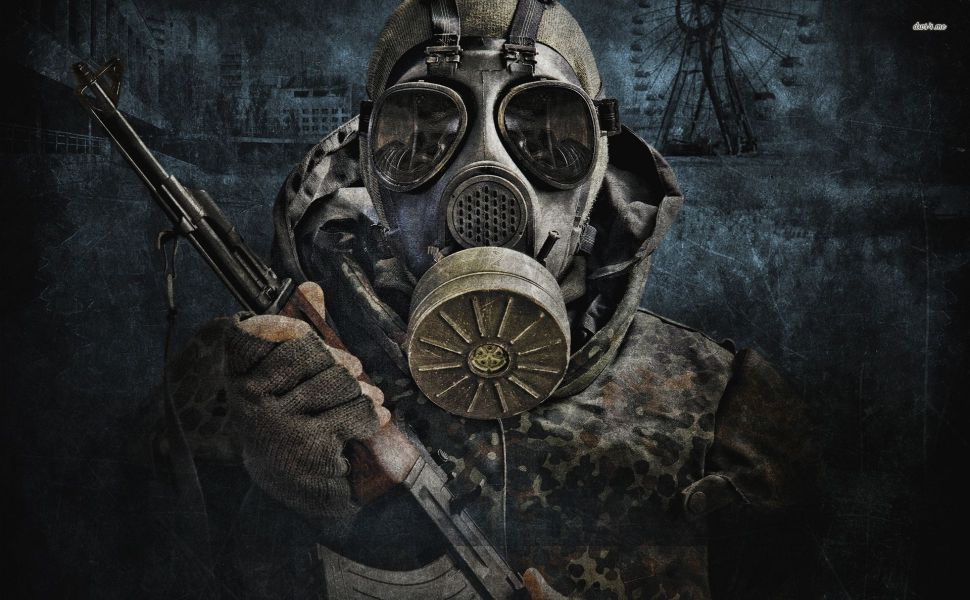 Gas masked soldier HD Wallpaper