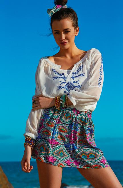 Breezy Tunic + Cara Skirt