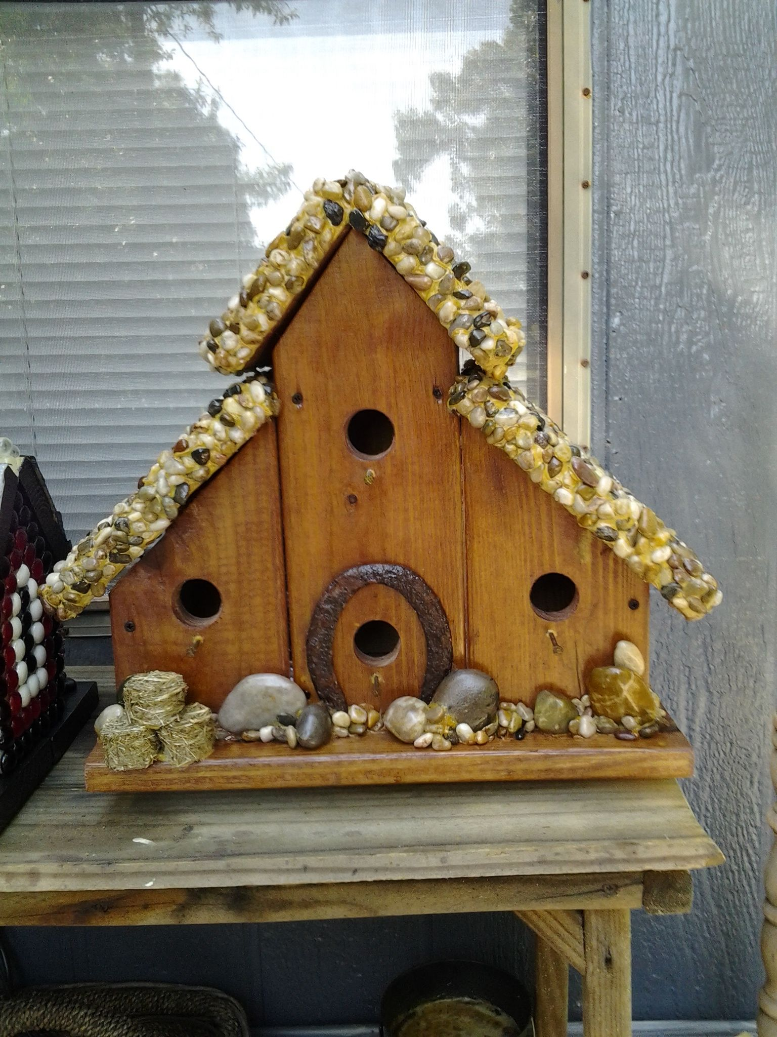Mawmaws marvelous birdhouse created with the help of three