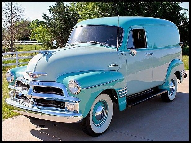 Muscle Cars Forever With Images Panel Truck Chevy Trucks Classic Chevy Trucks