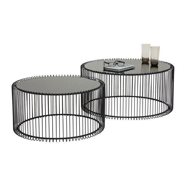 Table Basse Ronde Wire Noir 2 X2f Set Kare Design Kare Design Prix Avis Notation Livraison Cette Table Table Basse Table Basse Ronde Mobilier De Salon