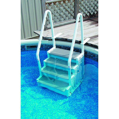 staircase above ground pool steps