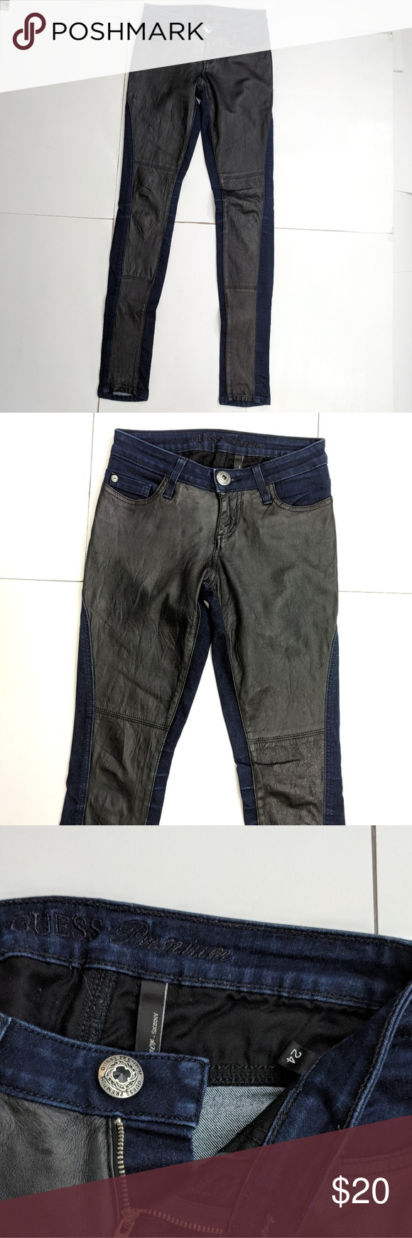 Guess Premium Power Skinny Stretch Jeans Black 24 Guess