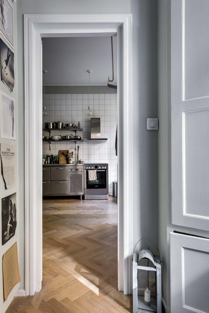 Pequeña cocina profesional estilo escandinavo cocinas pequeñas ...