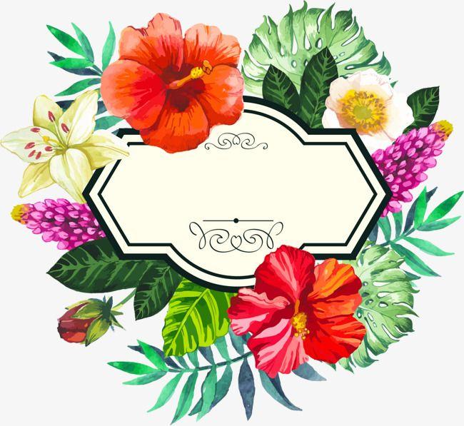 Pintados à Mão Flor Aquarela Tropical Quadro Pintado à Mão