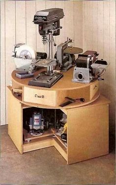 Lazy Susan Power Tool Stand Project Ideas Pinterest