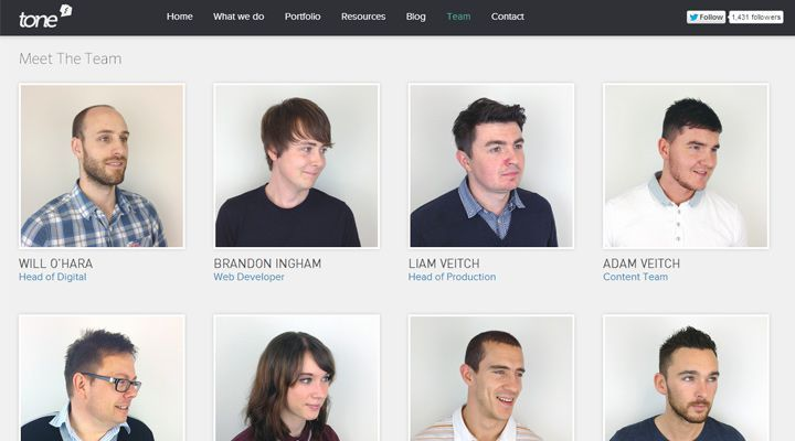 Web Layouts For Showcasing Company Teams  Employees  Web Layout