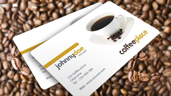 A simple business card template designed for coffee shop available a simple business card template designed for coffee shop available for free download as psd file wajeb