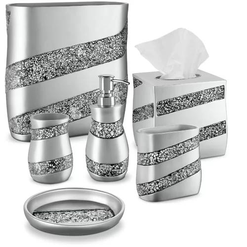 18+ Silver bathroom accessories set info