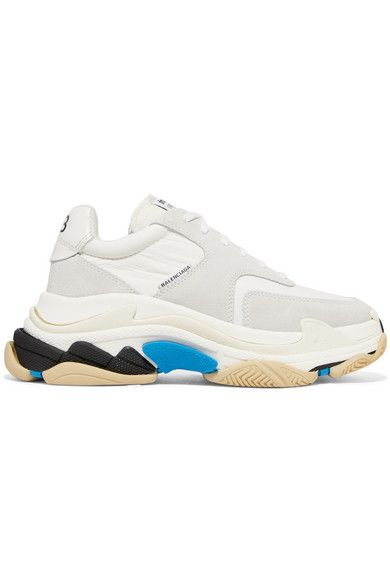 super popular 0b807 b4ae1 Balenciaga  Triple S leather and suede sneakers  NET-A-PORTER.COM