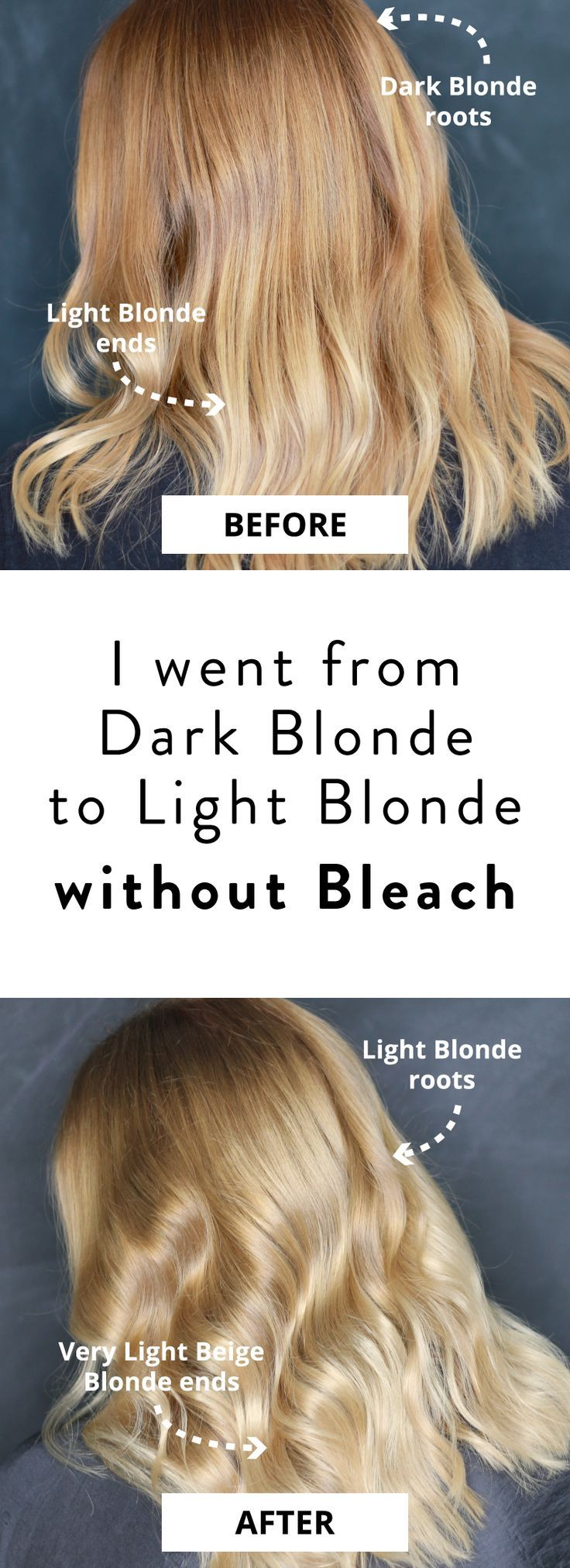 How I went from Dark Blonde to Light Blonde without Bleach