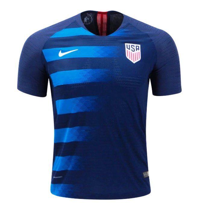 Men S Nike Usa Away Soccer Jersey 2018 2019 Blue Camisa De Futebol Camiseta Esportiva Camisas De Futebol