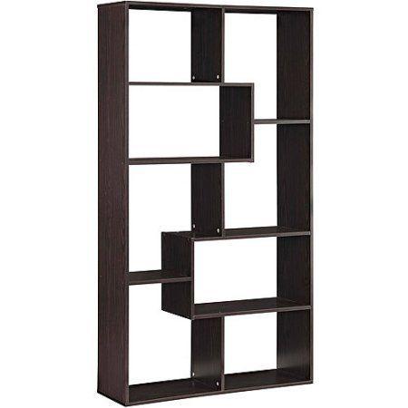 Mainstay Home 8 Shelf Bookcase Espresso Espresso 8 Shelf 8
