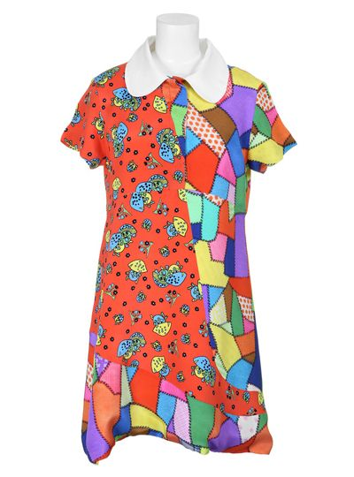 Jeremy Scott Dress Multicolored Print Dress with 70s Vibe