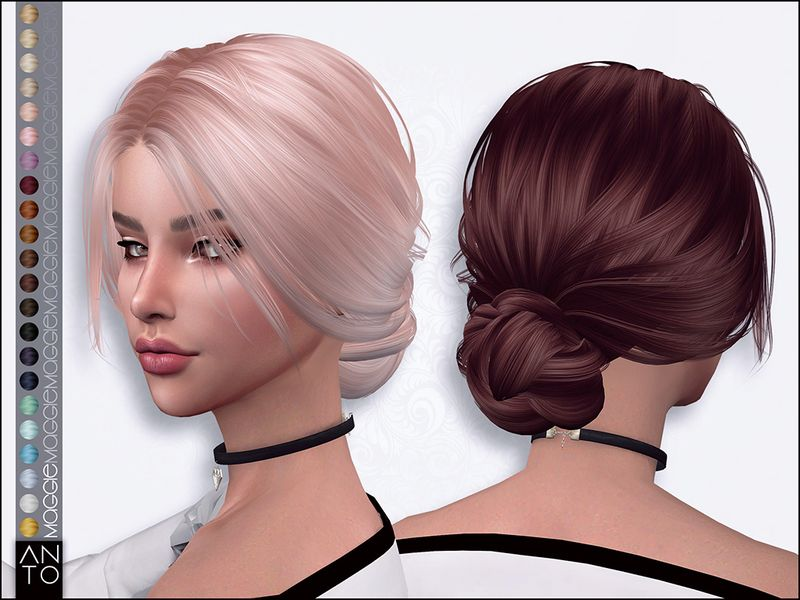 Photo of Sims 4 Hairs ~ The Sims Resource: Maggie Hair by Anto