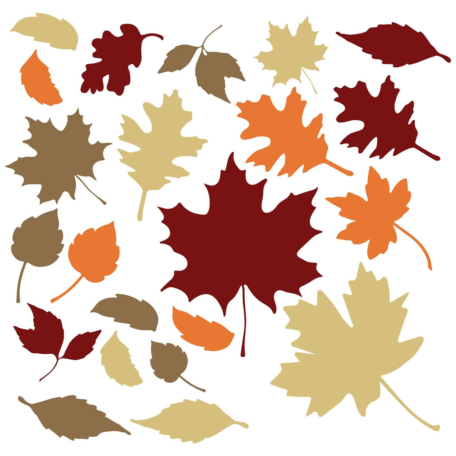 Amazon Com Decalmile Maple Leaf Thanksgiving Wall Decals Autumn Fall Leaves Wall Stickers Living Room Bedroom Tv Wall Art Decor Kitchen Dining