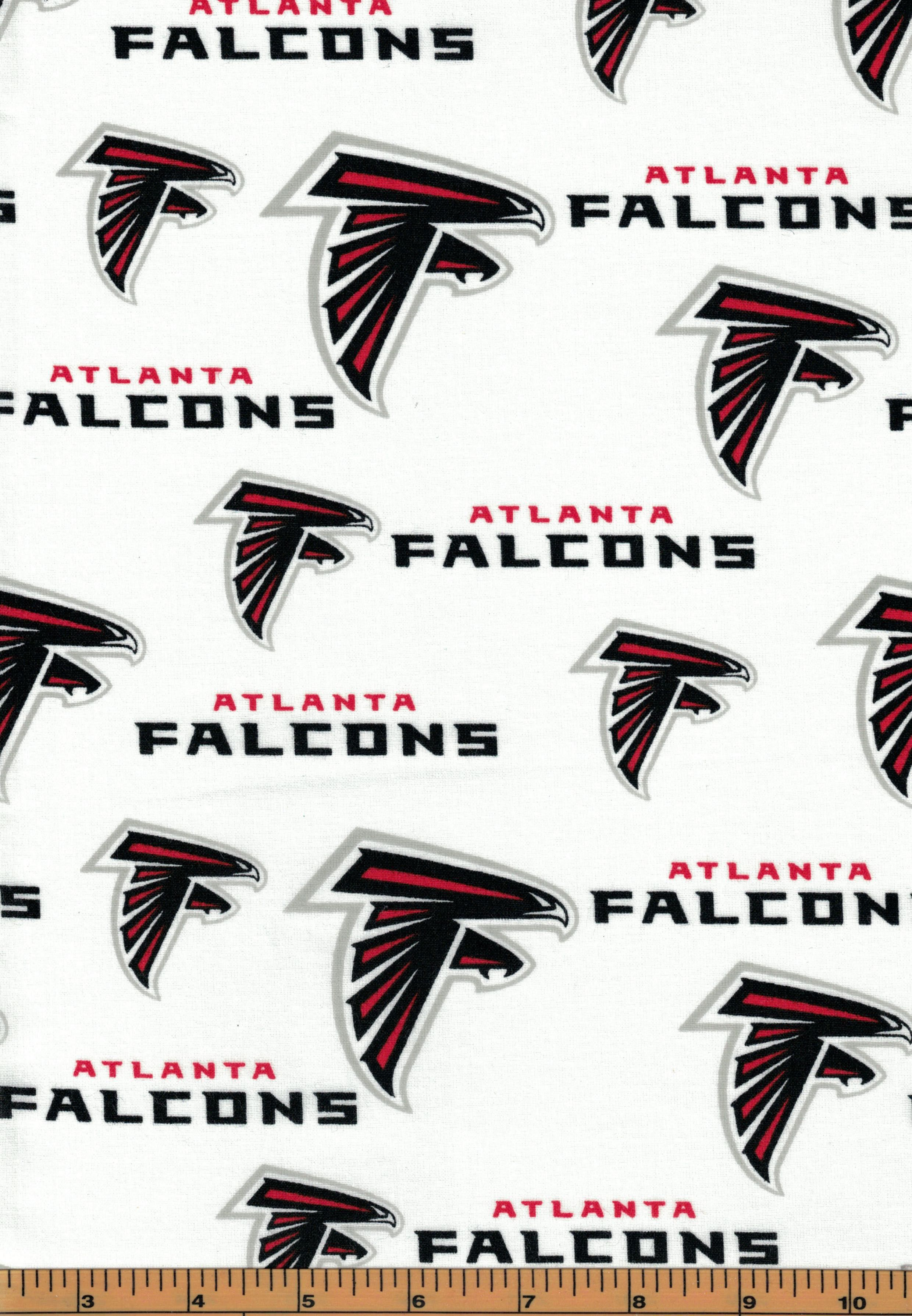 Atlanta Falcons Nfl Football Fabric 100 Cotton Sold By The Half Yard Quilts On The Fly In 2020 Football Fabric Atlanta Falcons Atlanta Falcons Football