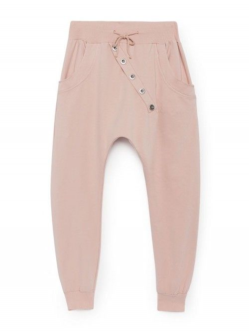 Joli survêtement chic rose poudré pour femme made in italy. Jogging en coton  rose pale fd3af3afe24