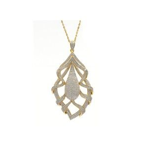 Vicenza Italian Design 5.96 CTW Sterling Silver Micro-Pave CZ Necklace - Vicenza - Collections