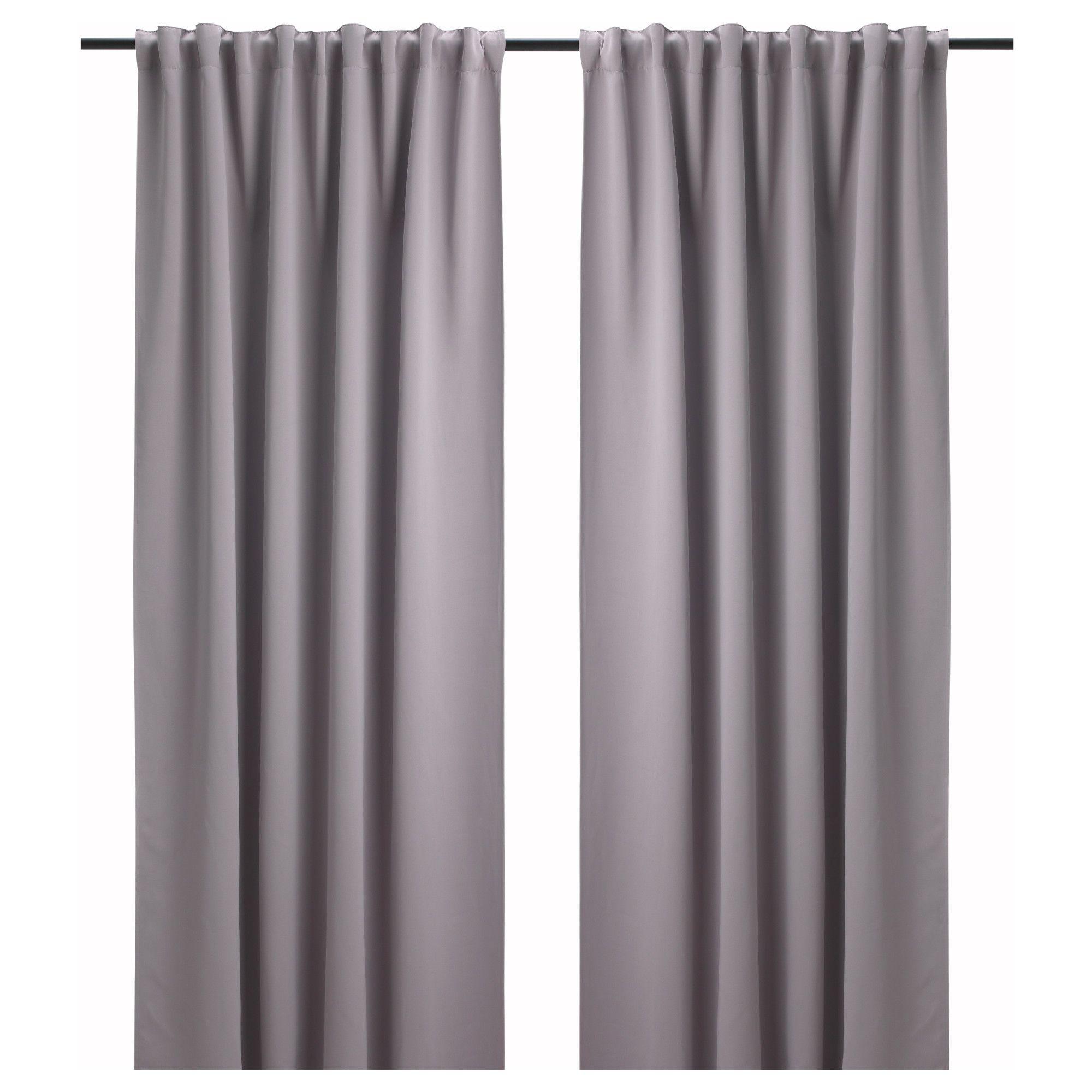 IKEA BOLLOLVON block-out curtains, 1 pair | Home | Pinterest ...