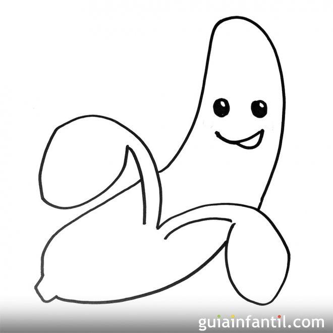 Imagen de un plátano. Dibujos para colorear con niños | manualidades ...