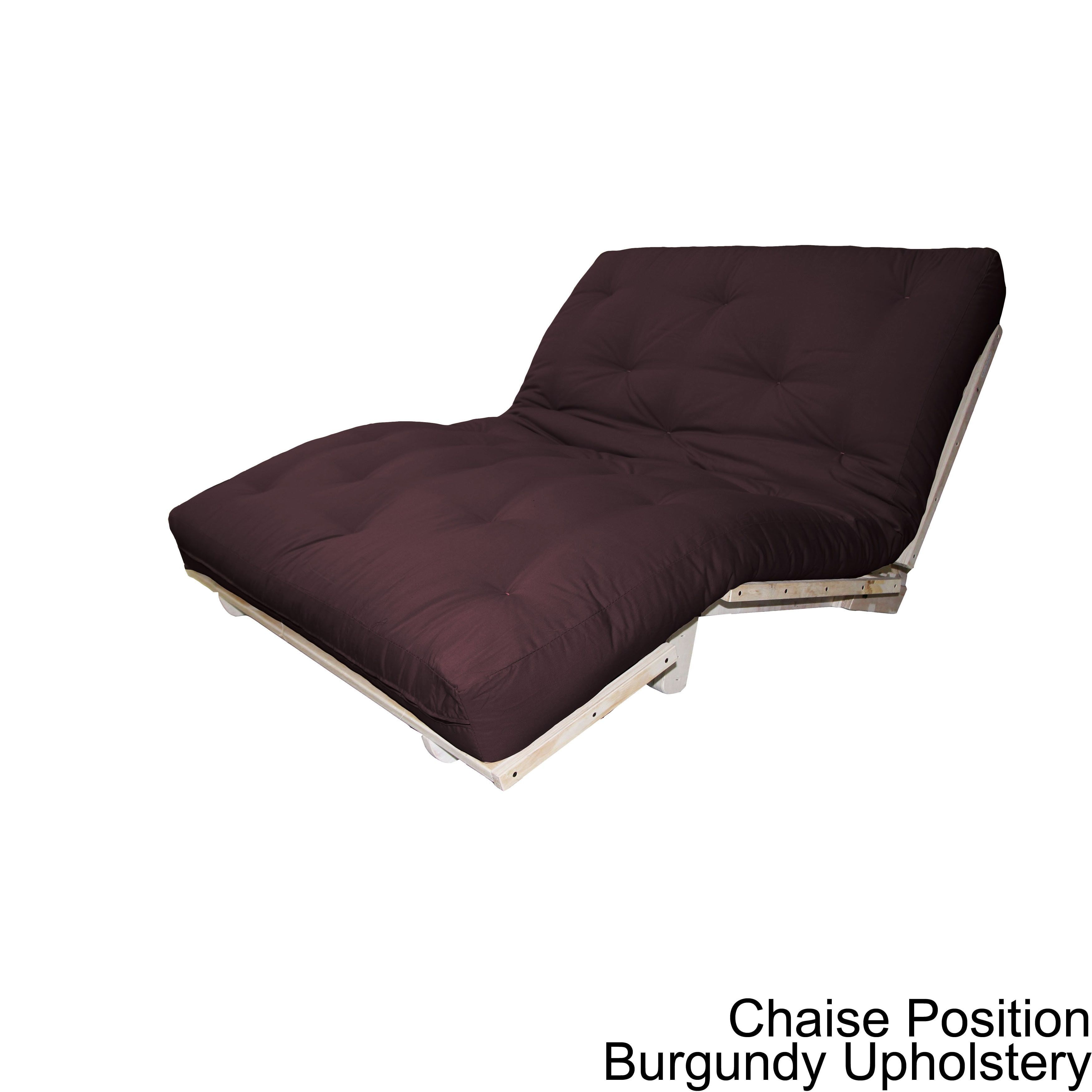 Epicfurnishings Houston All Wood Twin Full Or Queen Size Sit Lounge Sleep Futon Set With Burgundy Upholstery Red