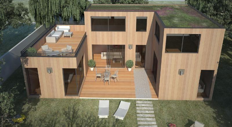 Maison en bois à étage Extérieur Pinterest