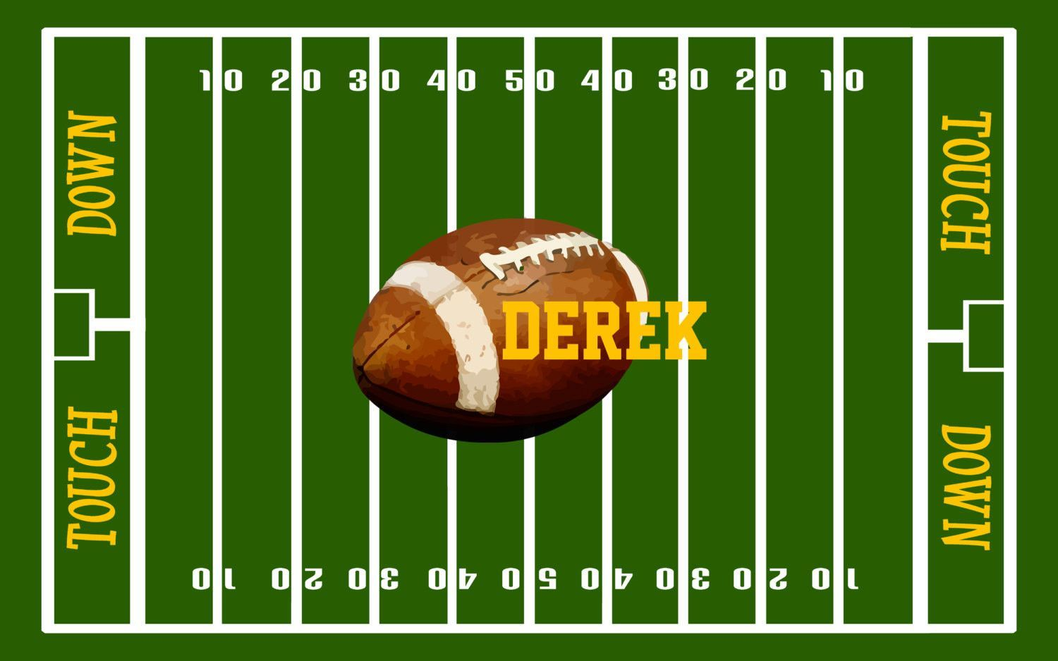 Football Field Rug Personalized Football Fuzzy Area Rug Football