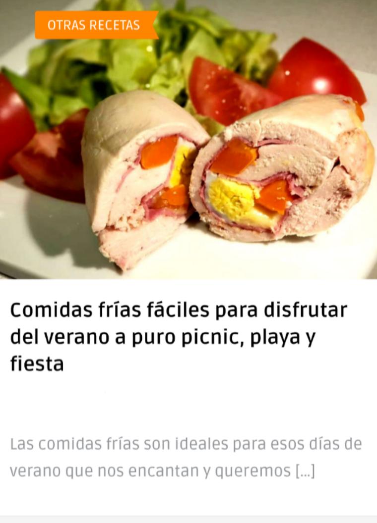 Recetas de comidas frias caseras