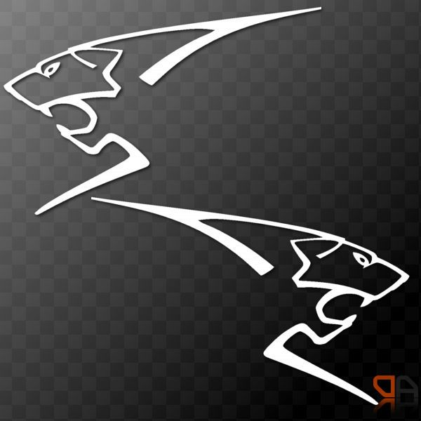 2x Peugeot Sport Lion Vinyl Decals Sticker 106 205 206 306 107 108 207 208 Rcz Autos Autos Clasicos Vinilos
