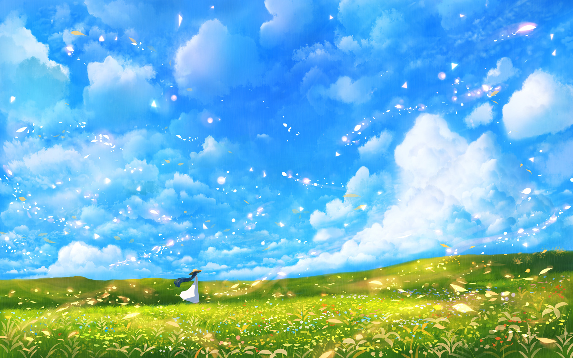 Original Wallpaper Background Image Girl Anime If You Enjoy Pls Follow Me Thanks 3 Anime Scenery Sky Anime Fantasy Landscape