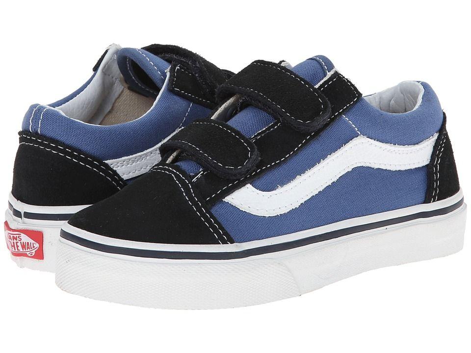 7b6990064ad510 Vans Kids Old Skool V (Little Kid Big Kid) Boys Shoes Navy True White