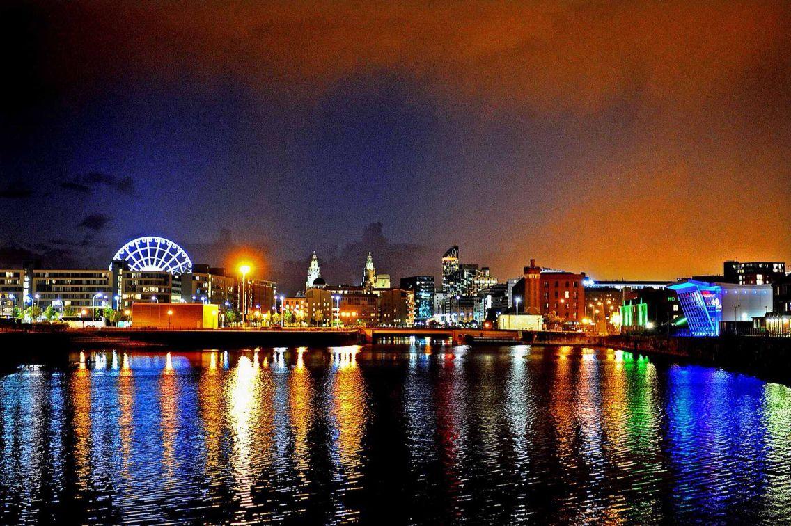 Liverpool After Dark Liverpool Skyline Liverpool Waterfront Liverpool