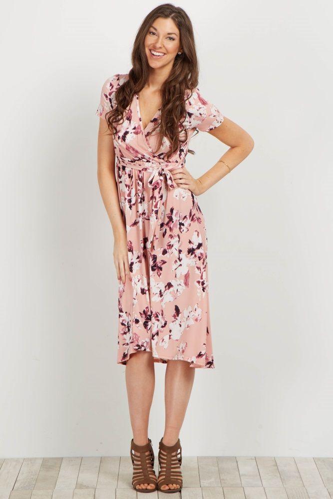0e12082a9d736 Pink Floral Hi-Low Wrap Dress in 2019 | stitchfix | Dresses, Wrap ...