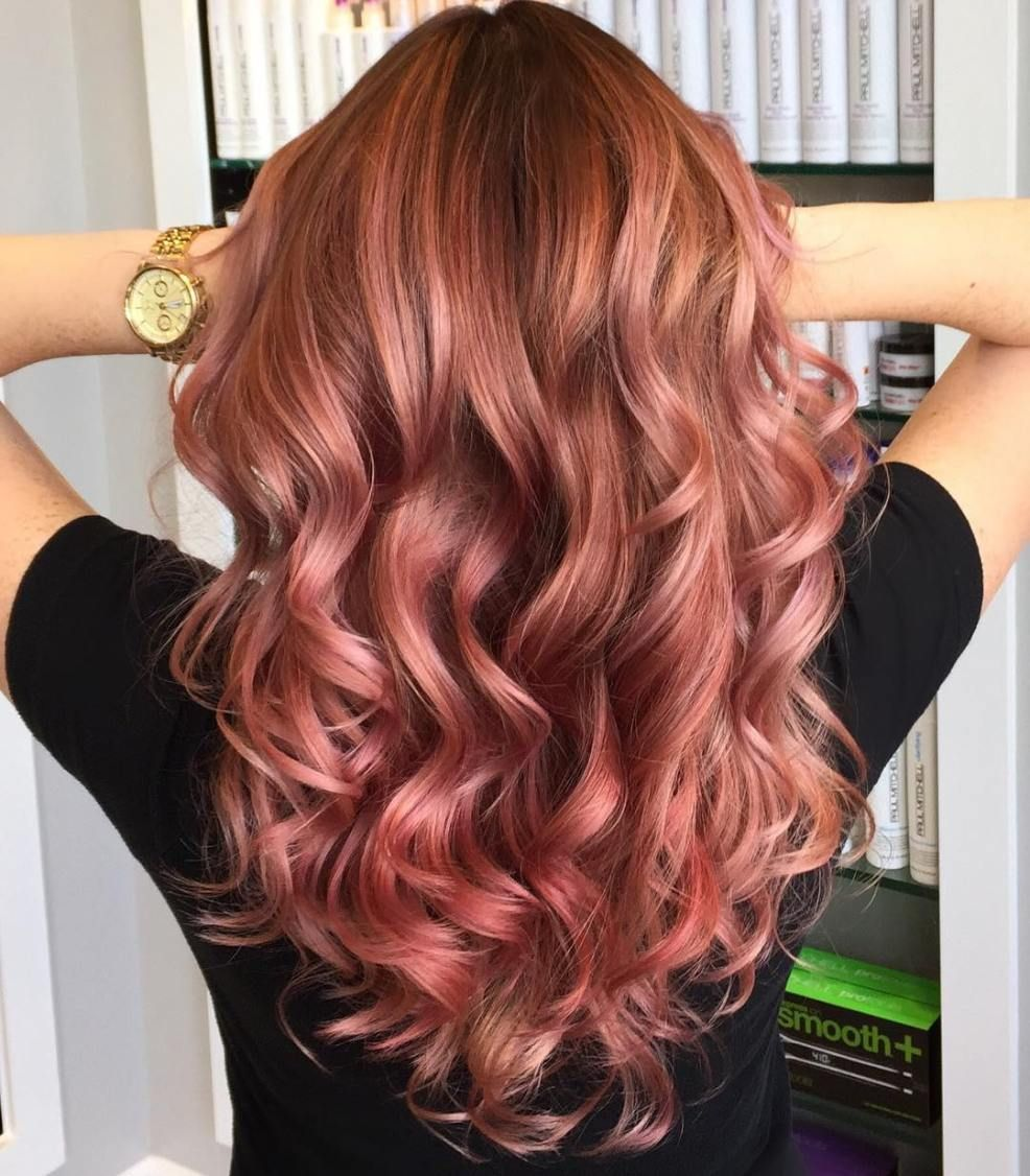 20 Brilliant Rose Gold Hair Color Ideas in 2019 | Frisuren ...