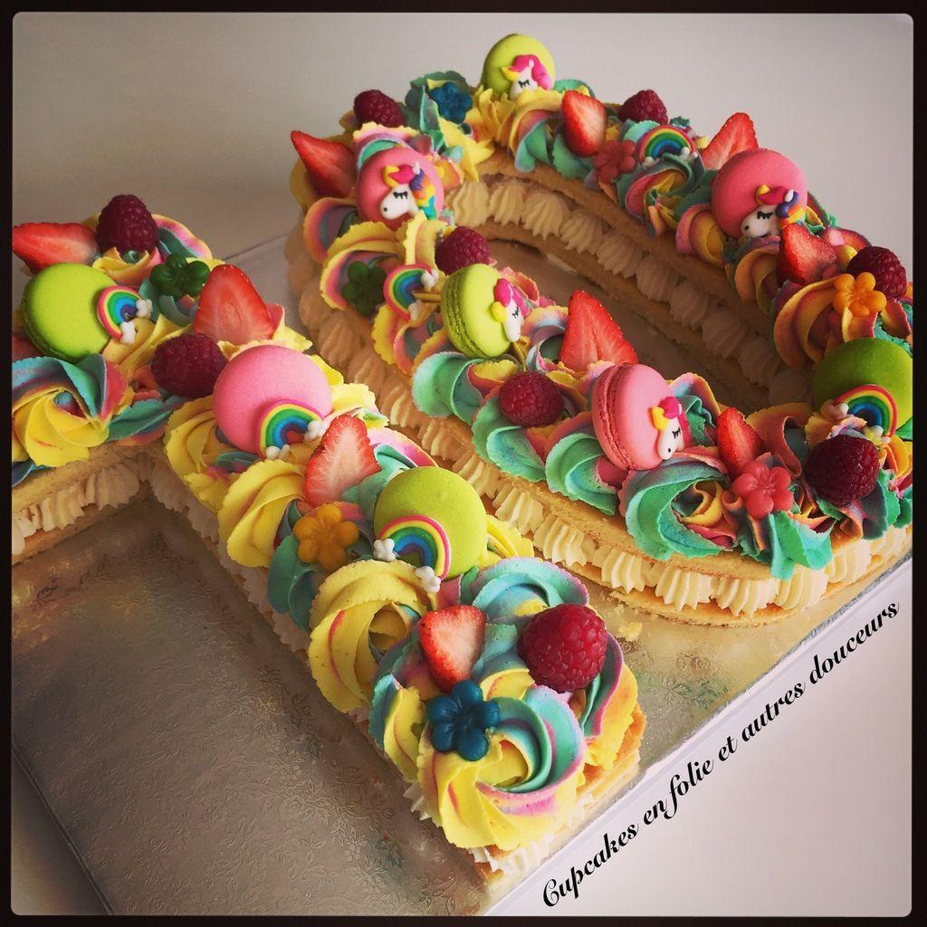 Number Cake 10 Licorne Dix Ten