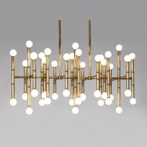 Jonathan Adler Collection Rectangular Chandelier Design By Robert Abbey