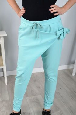 Baggy Pants With Lowered Step Knotted Comfortable Trousers With A Loose Binding To The Fashion Front Pants Have Opuszony Ste Clothes For Women Fashion Clothes