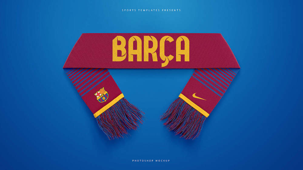 Download Football Sports Scarf Mockup Pack Sports Templates Sports Templates Football Mockup