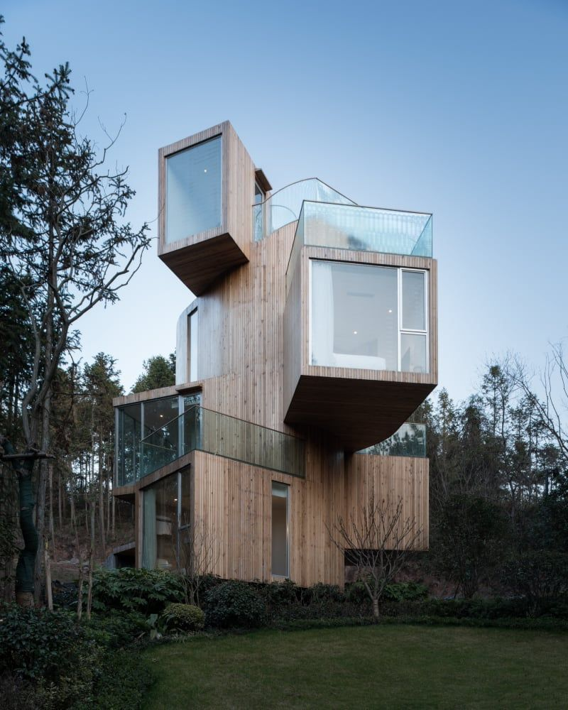 Bengo Studio, Chen Hao · Qiyunshan Tree House   Arquitectura ... Wendeltreppe Um Einen Baum Baumahus