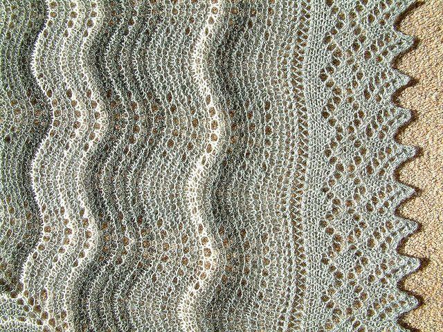 Shetland Hap Shawl - border/edging by jenet259, via Flickr | knits ...