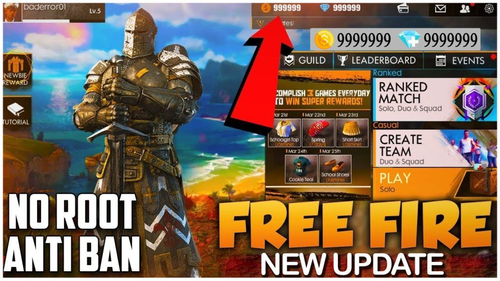 Free Fire Hack Get Unlimited Free Diamonds And Coins Android Ios