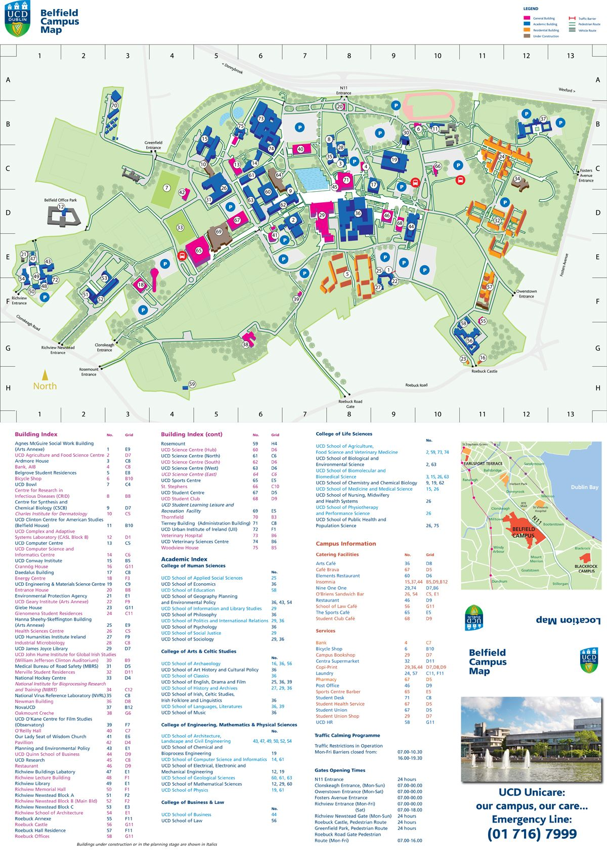 Mid Pacific Institute Campus Map.Ucd Belfield Campus Map Ireland Eire In 2019 Campus Map Map