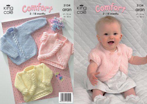 King Cole Comfort Aran Knitting Pattern Babies Knitted ...