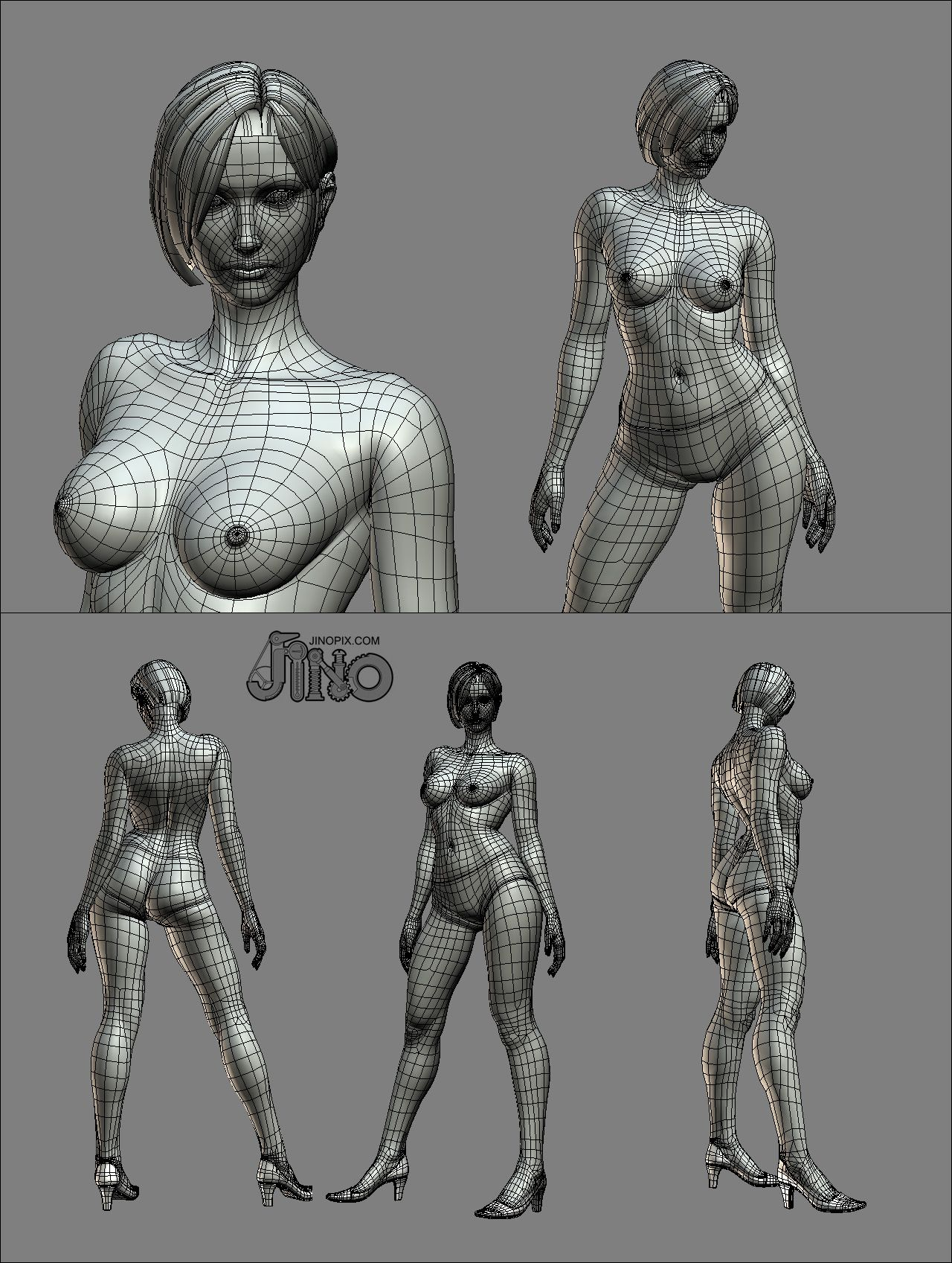 Female model 3D4Medical