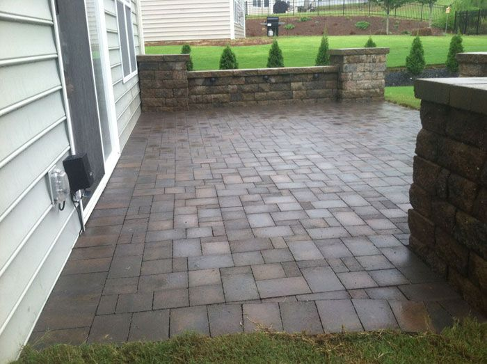 Paver patio sitting wall and landscape lighting charlotte nc paver patio sitting wall and landscape lighting charlotte nc aloadofball Gallery