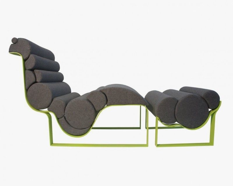 Futuristic and Modern Lounge Chair. Inspired by Art Nouveau