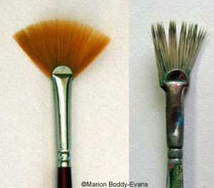 Everything You Need To Know About Fan Brush Painting Fan Brush Painting Tips Canvas Painting Diy
