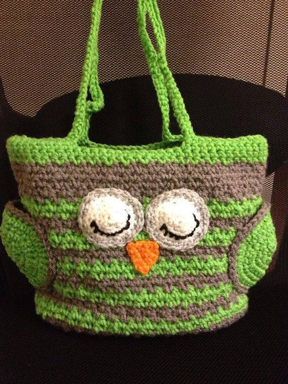 Owl Bag Crochet Owl Bag Owl Diaper Bag Owl Tote Owl Purse
