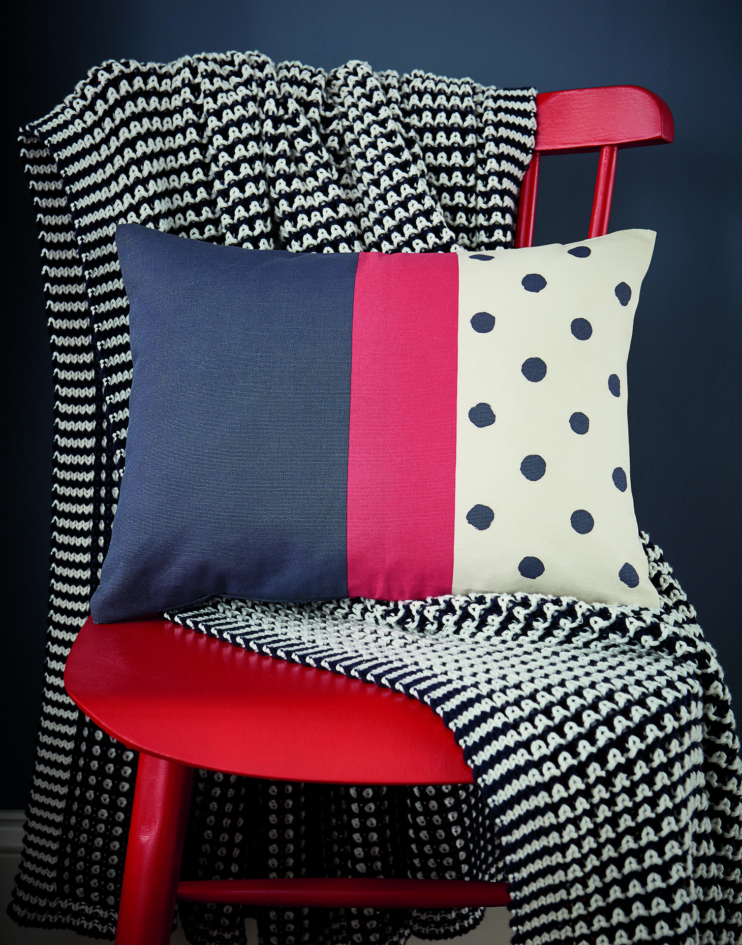 Navy spot null Cushion , Size One Size Joules UK Where